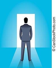 概念, 機会, ビジネス, 照ること