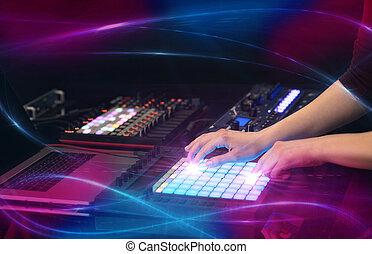 概念, 波浪, midi, 音乐, 混合, vibe, 控制器