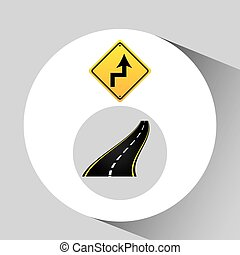 概念, 瀝青, 曲線, 簽署, 圖表, 路