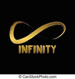 概念, 無限点, シンボル。, 手, 引かれる, ロゴ