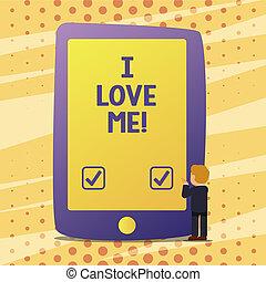 概念, 爱, 本身, 正文, me., 感觉, 意思, 好, 有, 笔迹, selfacceptance., 感情