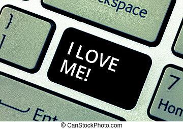概念, 爱, keypad, 正文, me., 感觉, selfacceptance, 紧迫, 有, 键盘, 消息,...