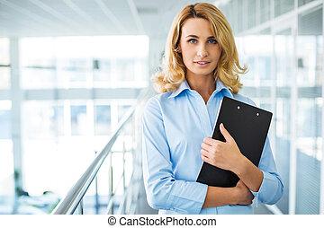 概念, 現代, 若い, オフィス, 秘書