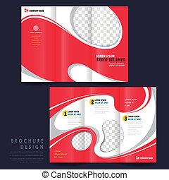 概念, 現代, tri-fold, 広告, テンプレート, パンフレット