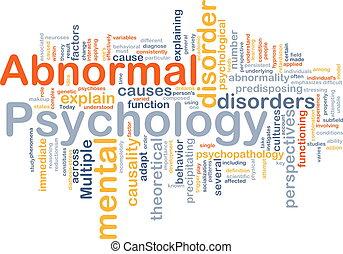 概念, 異常, 心理学, 背景