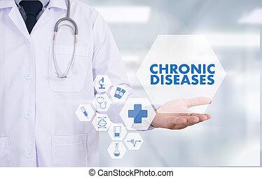 概念, 疾病, 醫生, 醫學, 現代, 慢性, 健康護理