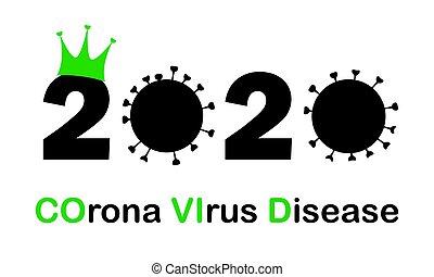 概念, 病毒, 疾病, 2020, 年, 光環