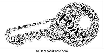 概念, 痛み, テキスト, 泡, マットレス, 救助, 背景, 記憶, 単語, 雲