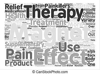 概念, 痛み, テキスト, 磁気, 療法, 救助, 背景, 単語, 雲