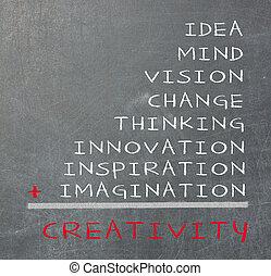 概念, ......的, 創造性