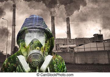 概念, ......的, 自然, 針對, 工業的污染