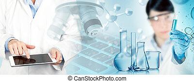 概念, 研究, 生物医学, イラスト, 3d