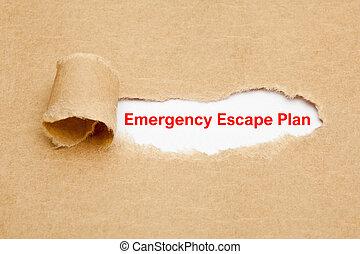 概念, 緊急事態, 引き裂かれたペーパー, 計画, 脱出
