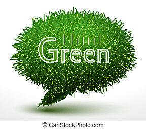 概念, 緑, 考えなさい, 草