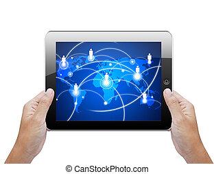概念, 网絡, 片劑, 社會