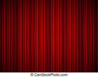 概念, 美術展, 隔離された, 深紅, パーティー, design., ビロード, 生地, オペラ, 創造的, バックグラウンド。, 音楽, 贅沢, 赤いカーテン, ドレープ, サーカス, 劇場, イラスト, 絹, ステージ, 要素
