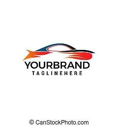 概念, 自動車, ベクトル, デザイン, テンプレート, ロゴ