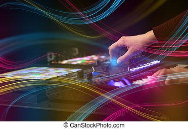 概念, 色彩丰富, midi, vibe, 控制器, 音乐, 混合
