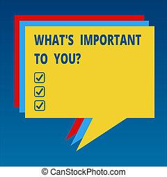 概念, 色, テキスト, priorities, ブランク, あなたの, 何か, 目的, スピーチ泡, 言いなさい, カラフルである, 別, 意味, 重要, ゴール, 山, balloon., 私達, 積まれる, s, 手書き, youquestion.