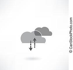 概念, 芸術, ビジネス, 計算, 矢, 創造的, 背景, 雲