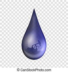 概念, 芸術, 抽象的, 産業, デザイン, template., 低下, 石油, 隔離された, 創造的, バックグラウンド。, ポンプ, 原油, イラスト, 透明, 小滴, グラフィック, ガソリン, 要素, ベクトル, 樽, ∥あるいは∥