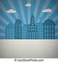 概念, 芸術, 抽象的, infographic, ロゴ, デザイン, 都市, 隔離された, 媒体, 創造的, 背景, レトロ, テンプレート, イメージ, ビジネス, 網, シンボル。, イラスト, アプリケーション, モビール, 社会, アイコン