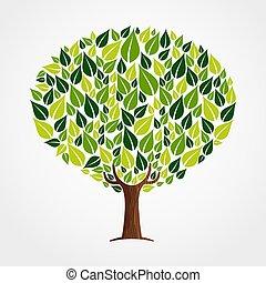概念, 葉, 助け, 自然, 木, 緑
