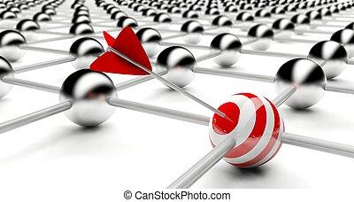 概念, 衝突, ターゲット, ビジネス, 成功, 創造的