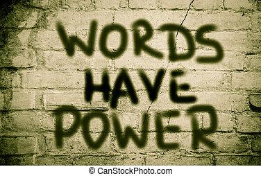 概念, 言葉, 持ちなさい, 力