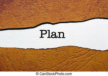 概念, 計画
