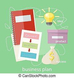 概念, 計画, ビジネス
