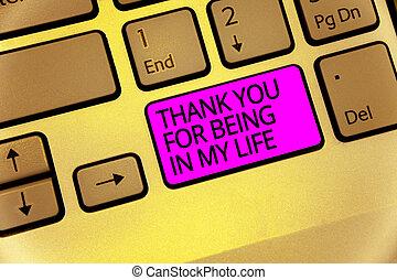 概念, 計算, ある, テキスト, コンピュータキーボード, あなたの, 感謝しなさい, 紫色, 作成しなさい, intention, あなた, 情事, 誰か, 意味, キー, 反射, life., 手書き, 私, 側, document.