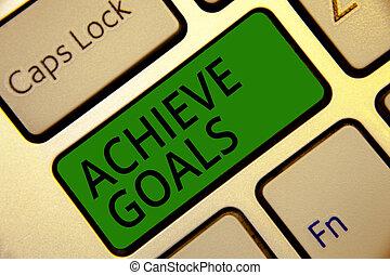 概念, 計算, テキスト, 結果, 計画, キーボード, 作成しなさい, 執筆, oriented, intention, 目的を達しなさい, リーチ, 意味, 成功しなさい, キー, goals., ターゲット, 反射, 効果的である, コンピュータ, 緑, 手書き, document.