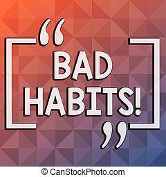 概念, 調子, 色, テキスト, 形, ピラミッド, stereotyping, パターン, 否定的, 執筆, habits., 誰か, 三角形, ビジネス, 行動, 無限, 喫煙, multi, 単語, のように, ひどく, dimension.