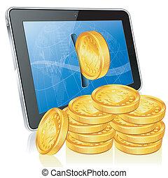 概念, 財政, お金, 作りなさい, -, インターネット