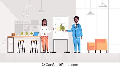 概念, 財政, オフィス, 現代, 会議, グラフ, アメリカ人, 協力者, 内部, ミーティング, 平ら, フルである, ビジネスカップル, チャート, 横, プレゼンテーション, とんぼ返り, 長さ, 提出すること, アフリカ, 作成