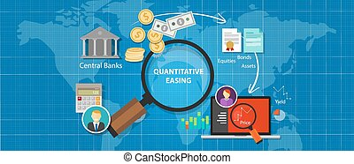 概念, 財政, スティミュラス, お金, 貨幣である, 経済, 量的, 緩和