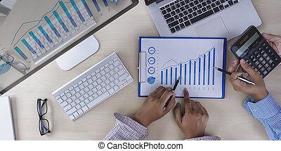 概念, 財政, チームワーク, 報告, 分析, 会計