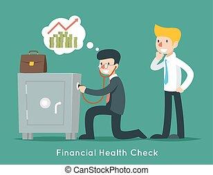 概念, 財政, ビジネス, お金, 点検, ベクトル, 健康, ビジネスマン, ∥あるいは∥, stethoscope.