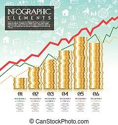 概念, 財政, infographic, デザイン, テンプレート