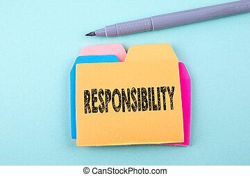 概念, 責任, ビジネス