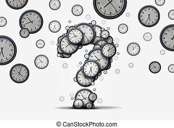概念, 質問, 時間