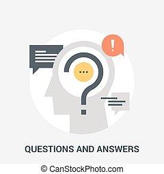 概念, 質問, 答え, アイコン