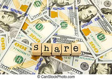 概念, 通貨, お金, ドル, 紙幣, 版, 寄付, 新しい, 分け前, 100