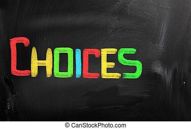 概念, 選択