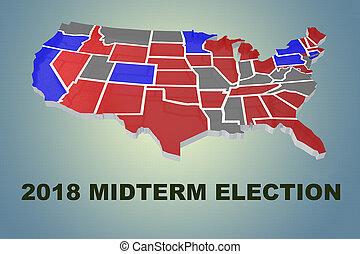 概念, 選挙, midterm, 2018