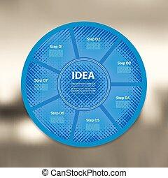 概念, 部分, ぼんやりさせられた, 線である, processes., バックグラウンド。, グラフ, プレゼンテーション, テンプレート, infographics, ステップ, 円, 7, ビジネス, オプション, 周期, 図, infographic., 矢, chart., ベクトル, ラウンド