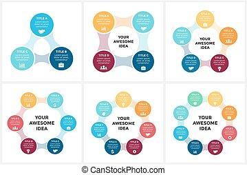 概念, 部分, 6, metaball, processes., グラフ, 4, 8, 円, プレゼンテーション, ビジネス, オプション, 7, ステップ, 周期, 図, infographic, 矢, chart., 5, ベクトル, 3