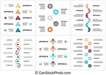 概念, 部分, 6, processes., グラフ, 4, 8, 円, プレゼンテーション, 三角形, ビジネス, タイムライン, オプション, 7, ステップ, 周期, 図, infographic, 矢, chart., 5, ベクトル
