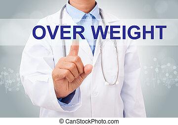 概念, 重量, 医者, 上に, screen., 事実上, 手, 感動的である, 印, 医学